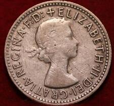 1958 Australia Shilling Silver Foreign Coin