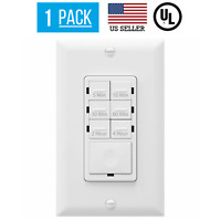 COUNTDOWN TIMER LIGHTSWITCH FOR FANS, LED/CFL, BATHROOM VENTS, WHITE
