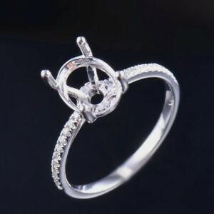 Platinum Oval Cut 9x7mm Real Natural Diamond Prong Wedding Ring Bridal Setting