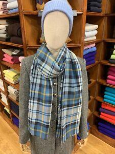 100% Pure New Wool Pashmina | Lochcarron | Made in Scotland | Gordon Dress Blue