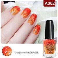 6ml Peel Off Orange Temperature Color Change Unique Nail Art Polish Nail Varnish