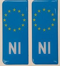 2x NI Northern Ireland Irish Flag Gel 3D Licence Number Plate Side Badges Badge