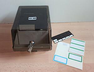 """50er Diskettenbox für 5,25 """" Zoll mit Schlüssel inkl. 56 Disks Disketten"""