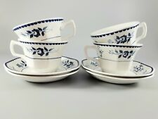 4 ADAMS Real English Ironstone Micratex Cups And Saucers Gloucester