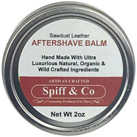 After Shave Balm For Men Sawdust Leather Aftershave Balm 2oz By Spiff And Co