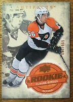 2008-09 UD Artifacts - CLAUDE GIROUX #204 Philadelphia Flyers Rookie RC 33/999