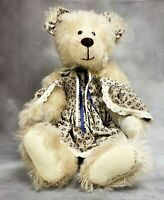 """Maine Artist Original ANGIE ROGERS 17"""" Mohair Teddy Bear Signed and Numbered"""