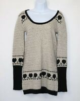 Kate Moss by Topshop ladies Jumper Sz 12 Dress long sleeve Wool Mix Black White