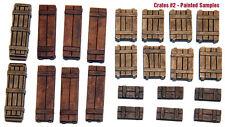 1/35 Escala Kit de Resina Cajas Madera Set #2 Tanque Estriba, Diorama Accesorio