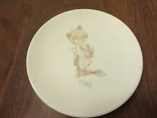 Precious Moments May Mini Plate with Plate Stand 1988