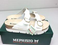 Mephisto Vandy Sandal White Patent Leather Size 41 US 11