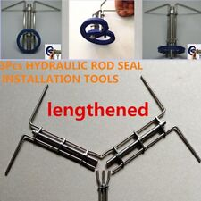 18CM HYDRAULIC CYLINDER PISTON ROD SEAL U-CUP INSTALLATION TOOL Lengthened 3PCS