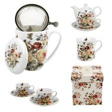 Tassen PORZELLAN Set Kaffeetassen mit Untertassen Kaffeebecher Becher Weiß DUO
