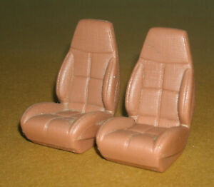 1/18 Scale 1996 Chevy Camaro Front Bucket Seat Set (Two) Ertl Car Model Parts