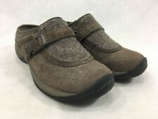 Merrell Encore Sidestep Stone Brown Shoes Womens 7 Slip On Slides Wool Leather