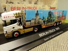 1/87 Herpa Scania 144 BERLIN TRUCK 1997 Koffer Sattelzug 186216