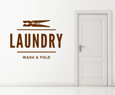 Laundry Launderette Utility Dry Cleaning Sign Text Wall Window Decal Sticker