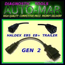 HALDEX TRAILER 4 PIN DIAGNOSTIC LEAD FOR AUTOCOM DELPHI OPUS WURTH  ECLIPSE