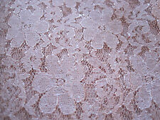 "Pink Lace Fabric TABLE OVERLAY Wedding Party Linens Decorations 125"" L x 48""W"
