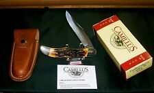 Camillus 6 Knife & Sheath Folding Hunter 1974 Indian Stag Line W/Packaging Rare