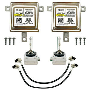 2x New Audi VW Xenon Ballast & Bulb HID Light Control Unit Module 8K0.941.597 E