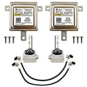 2x New Audi VW Xenon Ballast & Bulb HID Light Control Unit Module 8K0.941.597 E