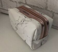 Marble Effect Grey Rose Gold Cosmetic Make Up Bag Travel Toiletry Xmas Gift