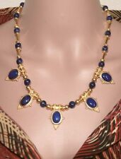 """Fall Sale! Egyptian Lapis Lazuli Statement Necklace 20""""- Museum Store Collection"""