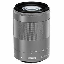 CANON Telephoto Zoom Lens EF-M55-200mm F4.5-6.3 IS STM Silver Mirrorless New New