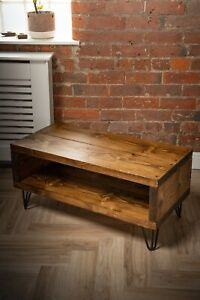 Rustic vintage solid wood TV unit country industrial media unit
