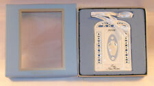 New Wedgwood Blue White Jasperware Our First Home 2006 Christmas Tree Ornament