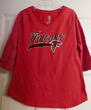 Girls Red Atlanta Falcons NFL 3/4 Sleeve Shirt Size M Or 8 Girl's