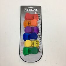 Set Of 6 Farberware Color Classic Magnetic Bag Clips Assorted Colors