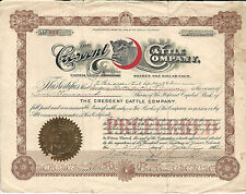 COLORADO The Crescent Cattle Co Stock Certificate 1912