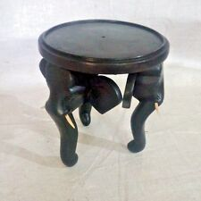 """Flower pot stand Vase Mini 6"""" Wooden Elephant TABLE Hand Made Home Decor table"""
