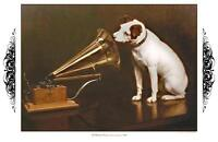 His Master's Voice, 1898 - 12 x 18 poster print - Victrola
