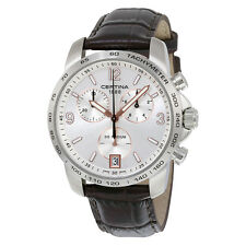 Certina DS Podium Chronograph Silver Dial Brown Leather Mens Quartz Watch