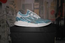 Adidas NMD R1 Datamosh Aqua Blue SNS Exclusive - UK 10.5 / US 11