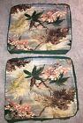 Vintage BARKCLOTH Pillow Fabric Salvage Remnant MIAMI RETRO