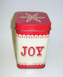 Vintage Snowflake Design Joy Tin Box