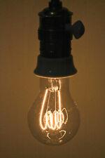 Original Edison Kohlefadenlampe NK16=56W 230V E27 Glühlampe Leuchtmittel um 1945