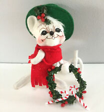 """Annalee Yuletide Mouse with Green Hat 2005 Christmas 6"""" Doll 774505 RARE"""