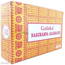 GOLOKA - Nag Champa - die Gelben BIG PACK 192g Räucherstäbchen