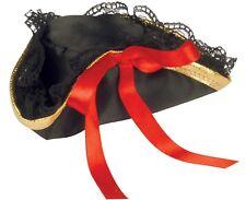 Womens Mini Pirate Buccaneer Tri-Corner Tricorner Pirate Hat Hair Clip Adult