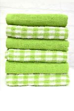 15x Terry 100% Cotton Tea Towels Set Kitchen Cleaning Dish Cloths Drying Packs