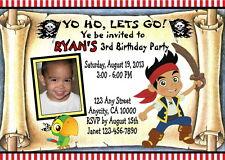 JAKE PIRATES CUSTOM PRINTABLE BIRTHDAY PARTY INVITATION & FREE THANK U CARD