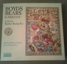 Boyds Bears & Friends / Bailey's Hearts Desire Rubber Stamp Kit by Uptown Stamps