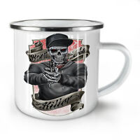 Horror Killer Gun Skull NEW Enamel Tea Mug 10 oz | Wellcoda