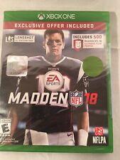 Madden NFL 18 Bonus (Microsoft Xbox One, 2017) NIB New Sealed Unopened Tom Brady