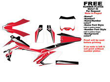 """DFR CRF450R GRAPHICS """"BUTTER"""" RED 2009-2012 CRF 450 HONDA"""